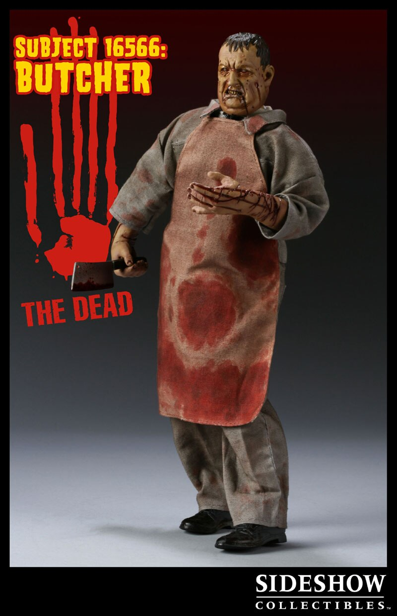 Sideshow 1:6 The Dead 16566 The Butcher Figure Bloody Jumpsuit