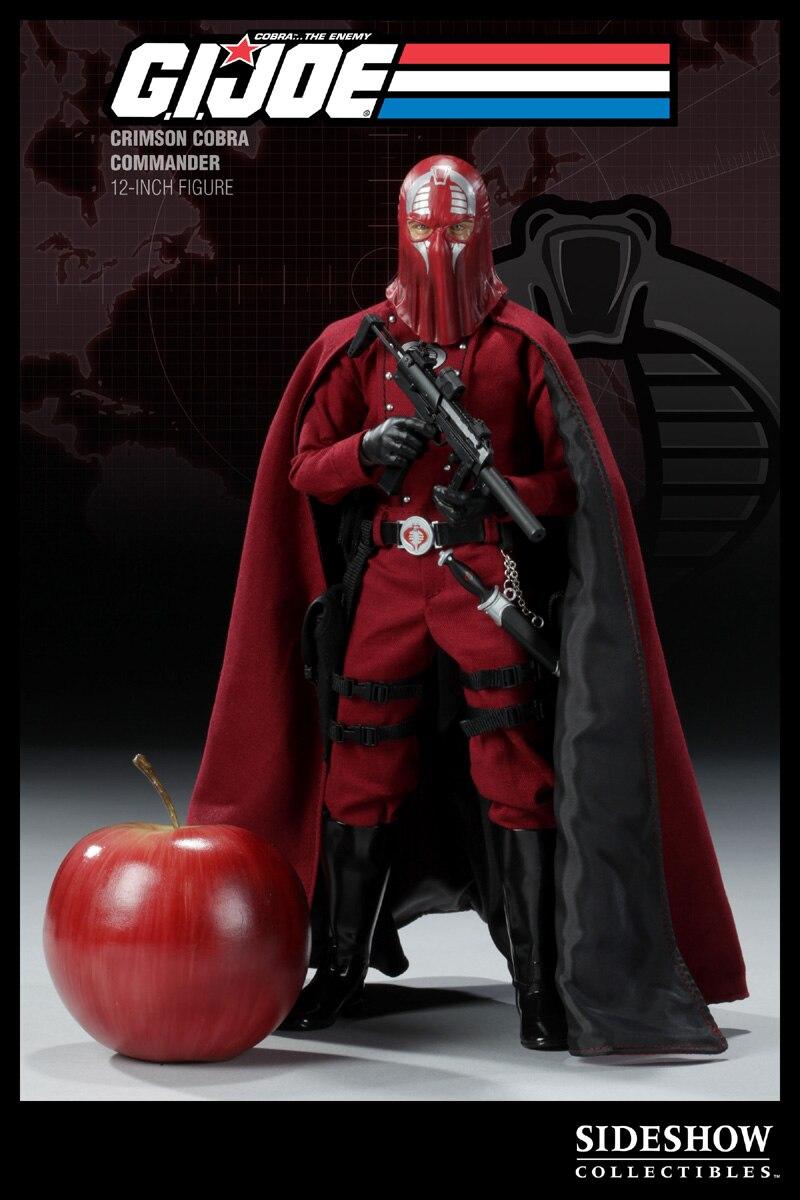 1//6 Scale Toy GI Joe Crimson Cobra Commander Figure MP-7 Rifle Set