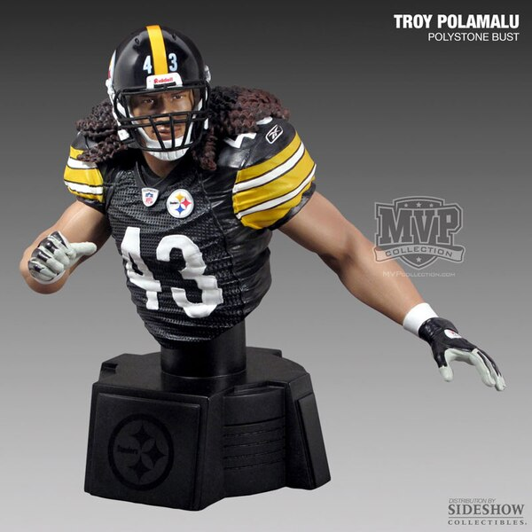 Toys For Troy : Troy polamalu black white jersey collectible busts