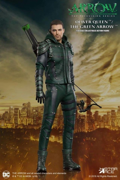 1 8 scale dctv arrow tv series real master series green arrow figure