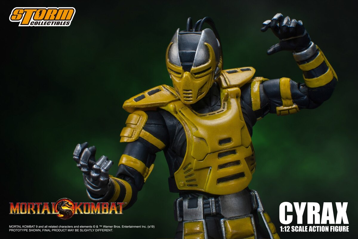 Mortal Kombat 1:12 Cyrax Figure Official Images And Details