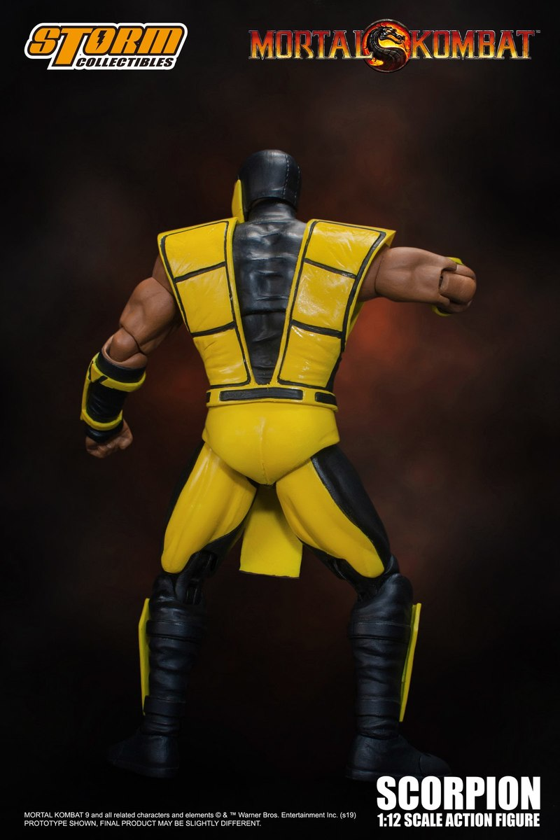 1:12 Ultimate Mortal Kombat 3 Scorpion Figure Images And