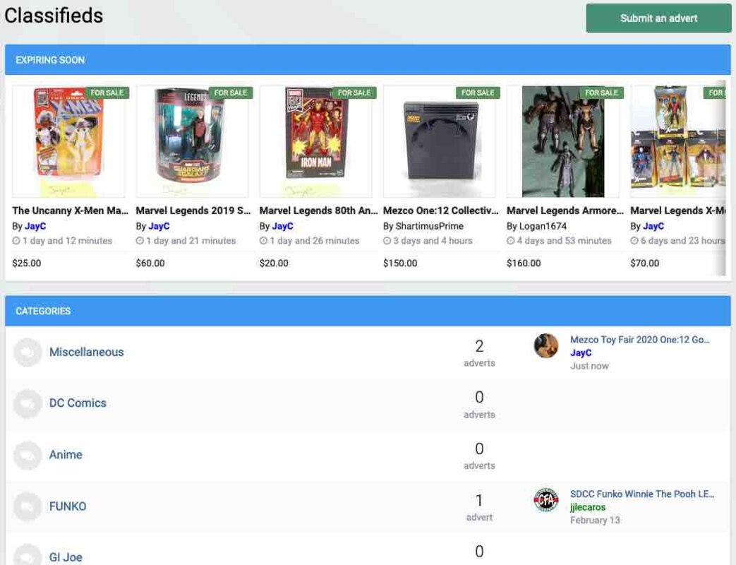 FREE Buying, Trading and Selling Action Figures on the TNI Classified Marketplace!