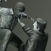 Frankenstein Meets the Wolf Man Silver Screen Edition Polystone Diorama