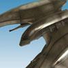 Battlestar Galactica: Modern Cylon Raider Statue